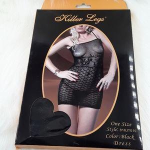Killer legs Bodystocking lingerie wear.